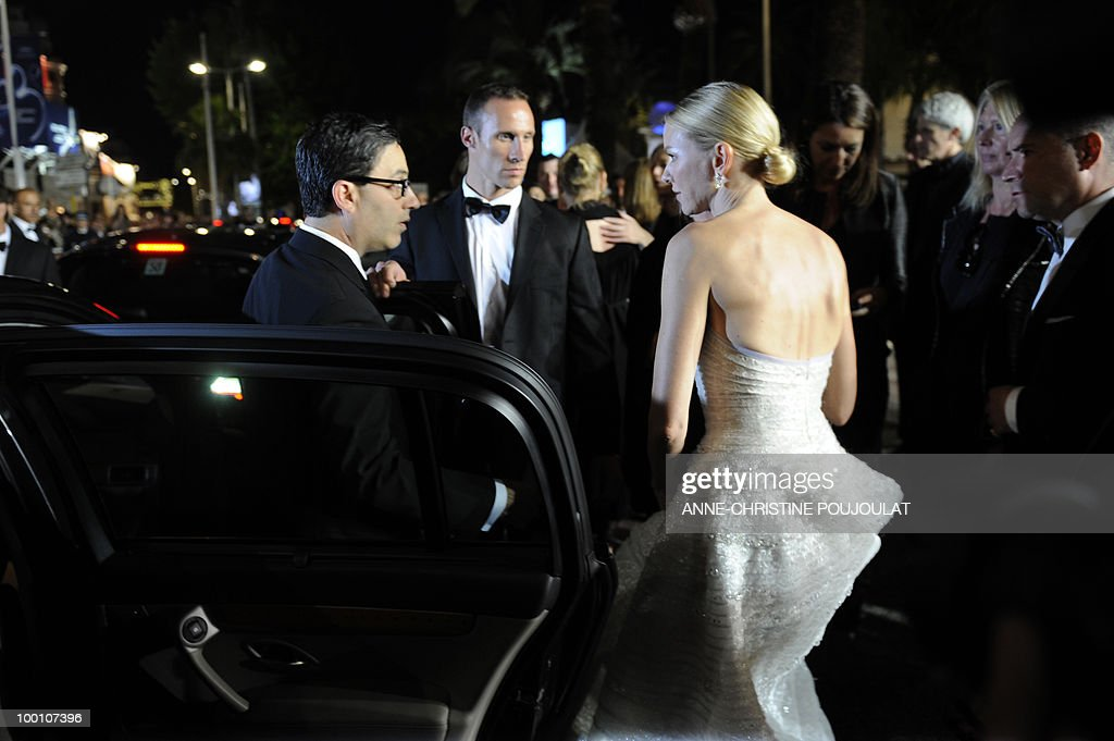 British born Australian actress Naomi Watts leaves after the screening of 'Fair Game' presented in competition at the 63rd Cannes Film Festival on May 20, 2010 in Cannes.