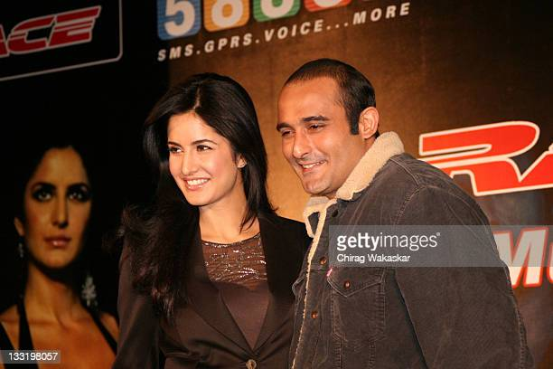British born Bollywood actress Katrina Kaif and actor Akshaye Khanna attend the digital music launch of the Bollywood movie Race on Indiatimes 58888...