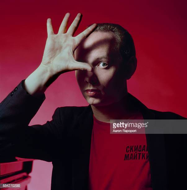 British born singer songwriter Joe Jackson poses for Rolling Stone Magazine in Los Angeles in 1979