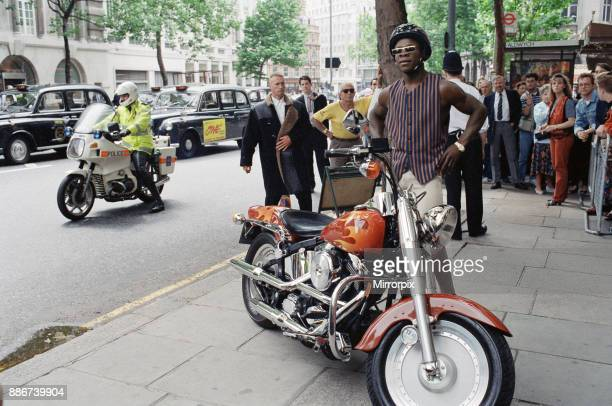 British boxer Chris Eubank attending a press conference in Aldwych, London, ahead of his fight with Nigel Benn for the WBO Super Middleweight title...