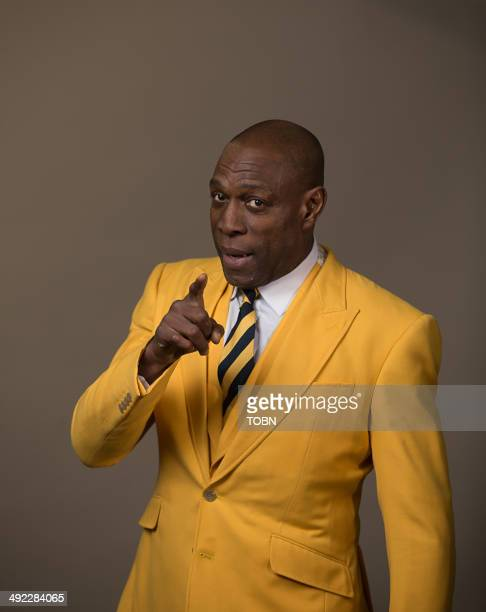 British Boxer Frank Bruno poses during a portrait session at Aspire Active Gym on March 19 2014 in Rayleigh England