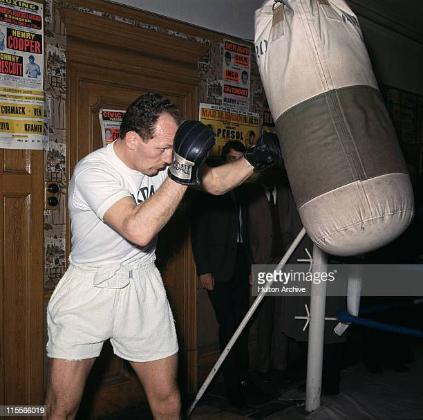 British boxer Henry Cooper in training at the Thomas a Becket pub on the Old Kent Road South London 1966