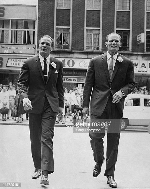 British boxer Henry Cooper with his twin brother George 25th June 1966 George was also a boxer using the name Jim Cooper
