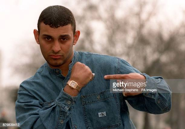 British boxer Prince Naseem Hamed showing off his recovered hand in London after his comeback fight was announced Hamed is to make his first defence...