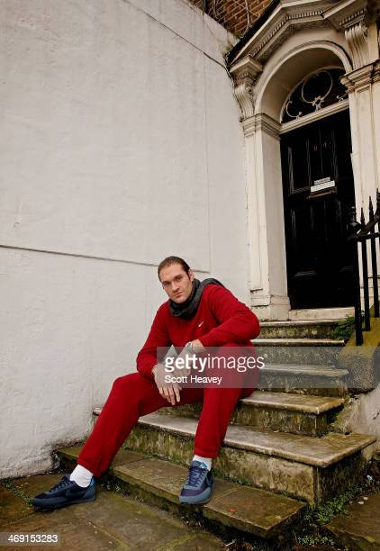 British boxer Tyson Fury attends a press conference to announce his upcoming International Heavyweight bout with American Joey Abell on February 13...