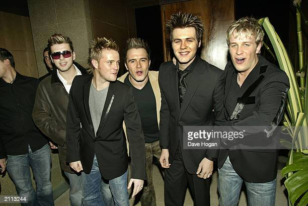 British Boy band Westlife attend the Launch Party for their Album 'Unbreakable' on November 11 held at Zuma restaurant in London, England. Mark...