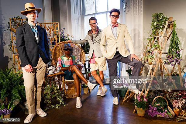 British brand Thomas Pink part of the Moet Hennessey Louis Vuitton group unveils its Spring/Summer 2016 collection at the Institute Of Contemporary...