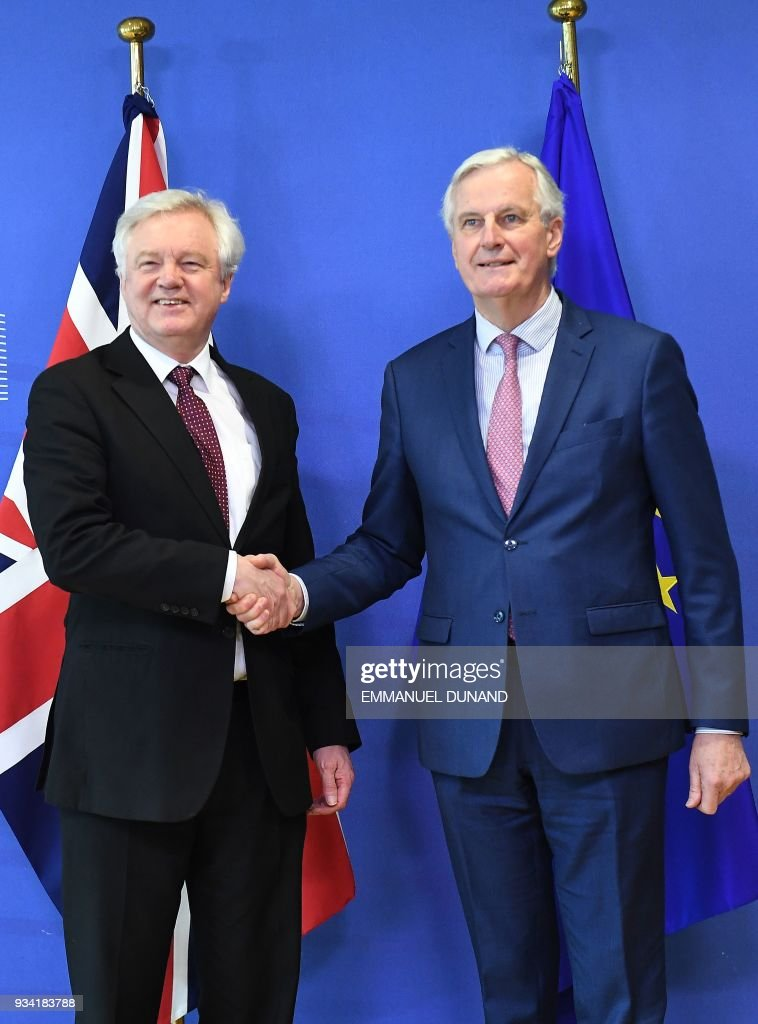 David Davis And Michel Barnier Hold Brexit Press Conference