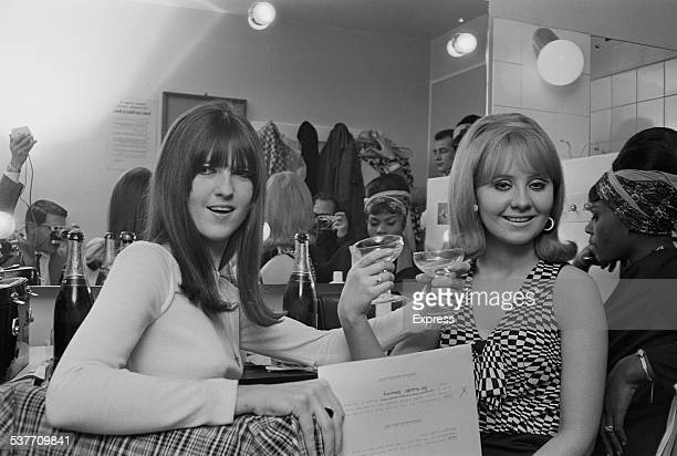 British broadcaster and journalist Cathy McGowan and Scottish singer Lulu at the 'Ready Steady Go' New Year party January 1966