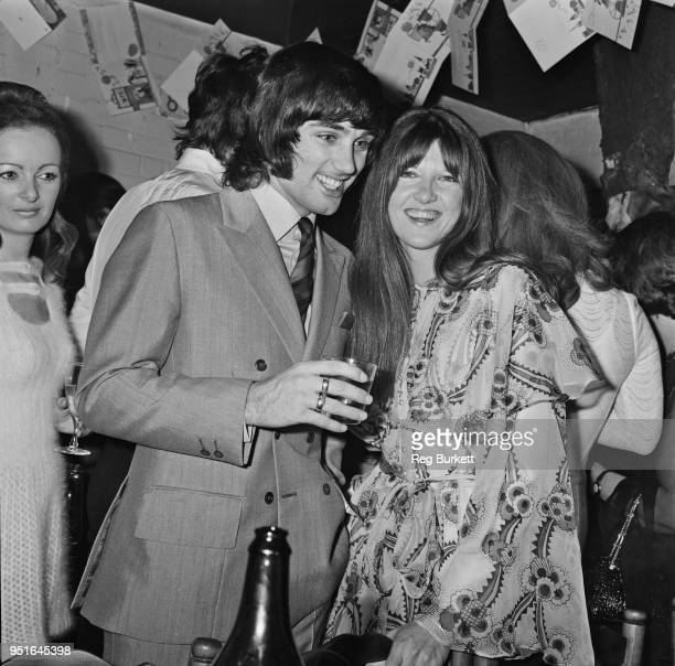 British broadcaster and journalist Cathy McGowan at her wedding with guest soccer player George Best UK 19th January 1970
