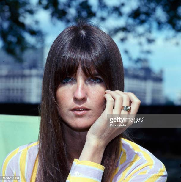 British broadcaster and presenter Cathy McGowan pictured in London in 1966