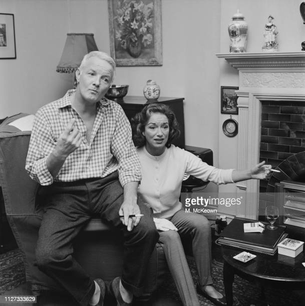 British broadcaster at the BBC writer and actor Hubert Gregg with his wife British actress singer and dancer Pat Kirkwood UK 21st August 1963
