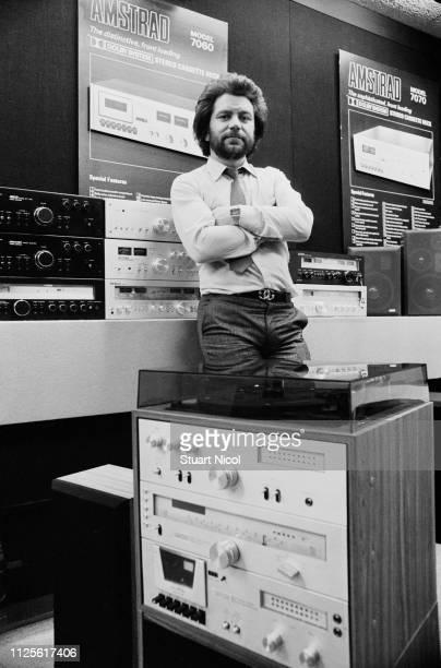 British business magnate media personality politician and political adviser Alan Sugar UK 18th April 1980