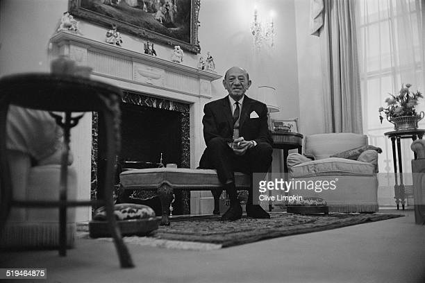 British businessman and founder of the Tesco supermarket chain Jack Cohen at his flat near Regent's Park London 16th January 1967