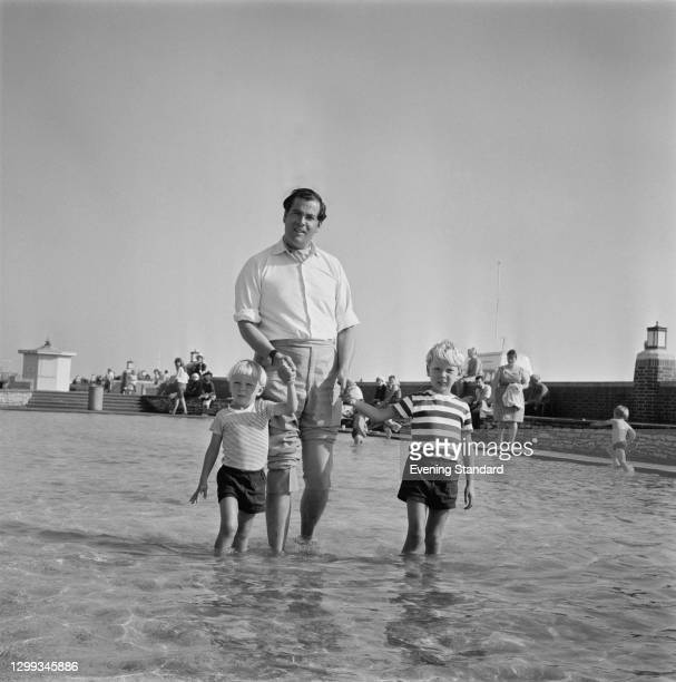 British businessman and Liberal politician John Pardoe with his children during the Liberal Party Conference in Brighton, UK, 21st September 1966.