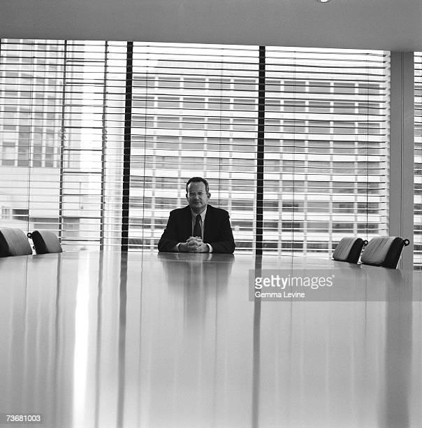 British businessman and politician David Sainsbury circa 1993