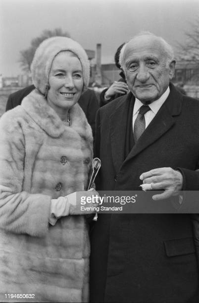 British businessman and racehorse owner Michael Sobell posed with singer Vera Lynn at an event in England on 19th March 1971