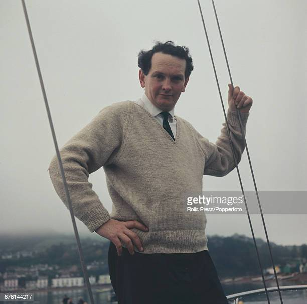 British businessman and sailor Donald Crowhurst pictured standing on a yacht in harbour in 1968 prior to departing on his ill fated voyage around the...