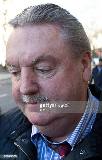 British businessman James McCormick arrives at the Old Bailey court in central London on May 2 to be sentenced after being convicted of selling fake...