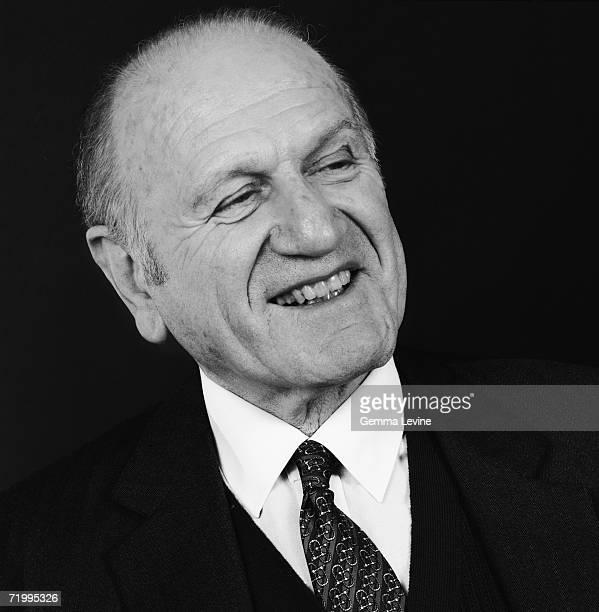 British businessman Marcus Sieff former chairman of the Marks Spencer retail chain circa 1985