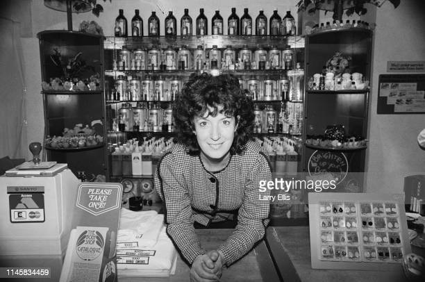 British businesswoman, human rights activist and environmental campaigner Anita Roddick , founder of The Body Shop, UK, 10th April 1984.