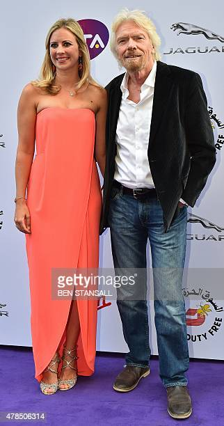 British bussinessman Richard Branson and his daughter Holly Branson arrive to attend the Women's Tennis Association's preWimbledon party in...