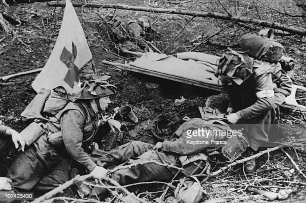 British Canadian Attack In The East Of Nijmegen In Holland On 1945