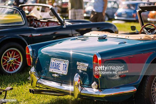 british car day in canada - triumph motorcycle stock pictures, royalty-free photos & images