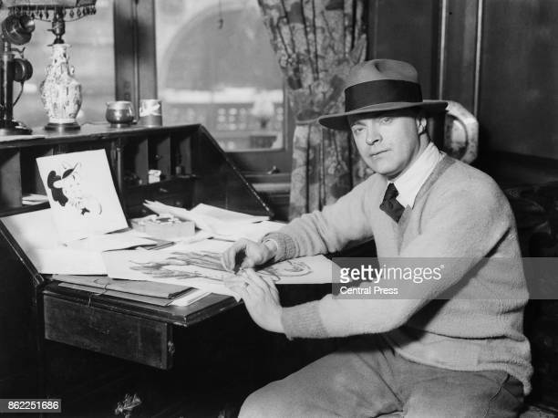 British cartoonist Bruce Bairnsfather whose bestknown character was 'Old Bill' circa 1930