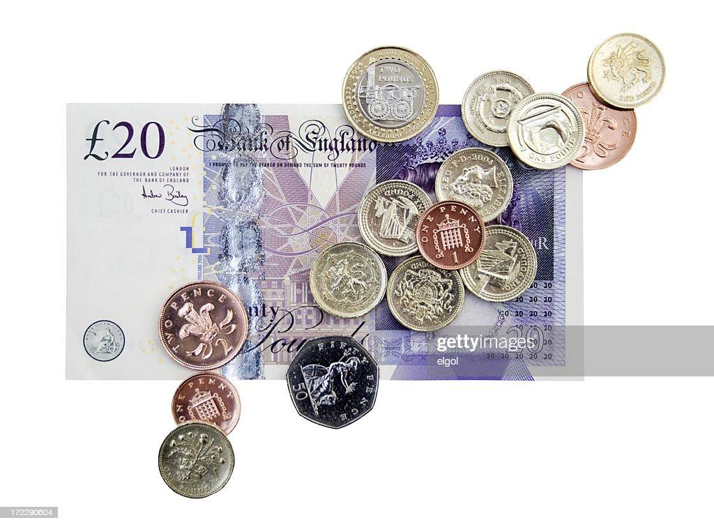 British Cash Clipping Path : Stock Photo