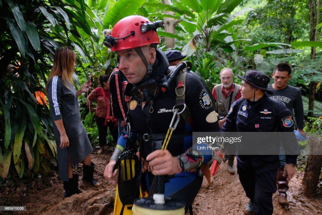 Thailand Cave Rescue For Missing Soccer Team : ニュース写真