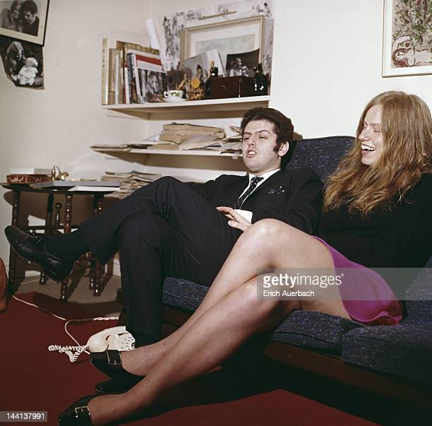 British cellist Jacqueline du Pre with her husband pianist and conductor Daniel Barenboim London 7th November 1973