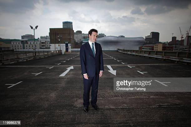 British Chancellor George Osborne poses for the media as he visits Birmingham Enterprise Zone on July 28, 2011 in Birmingham, England. From the...
