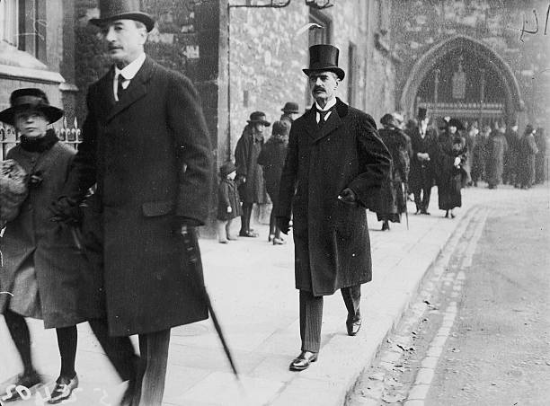 British Chancellor of the Exchequer Neville Chamberlain on Armistice Day which marks the anniversary of the end of World War I 11th November 1923
