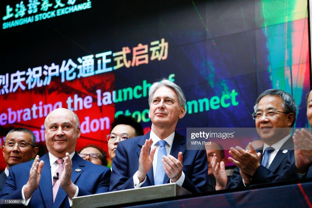 Chancellor Hammond Hosts China's Vice-Premier Hu Chunhua : News Photo