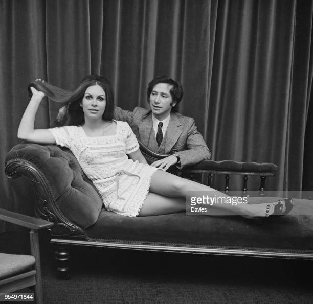 British chartered accountant and writer Neville Shulman with his wife former Israeli Army officer Emma Broide 20th January 1970 They were married on...