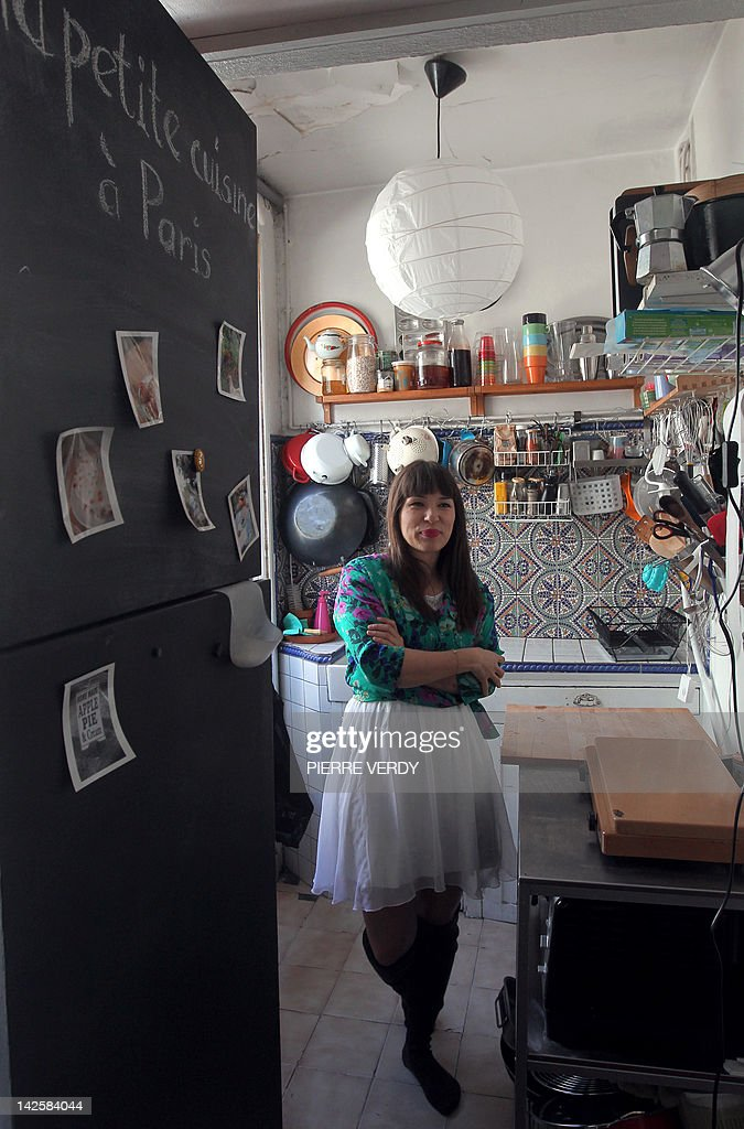 Bon SPENLEY   British Chef And Author, Rachel Khoo Poses On April 2, 2012 In