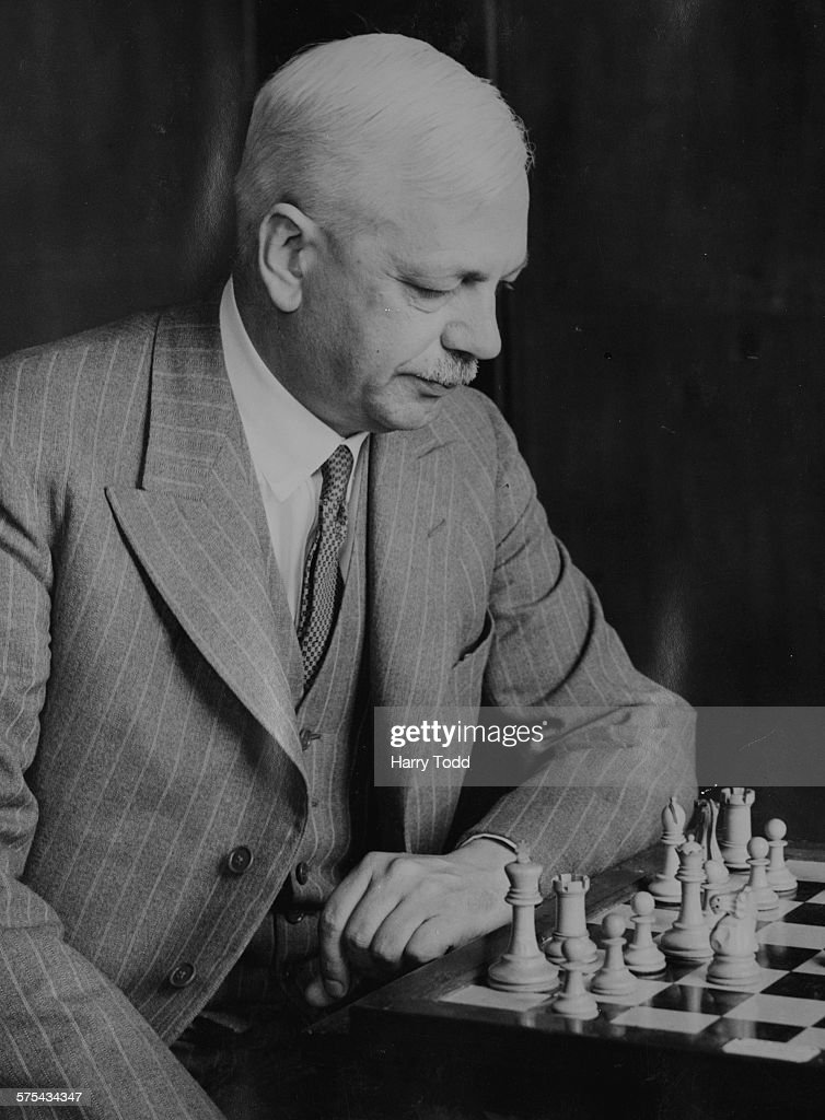 British chess champion Sir George Thomas playing at the Annual British Chess Federation Championship in Yarmouth, England, July 11th 1935.