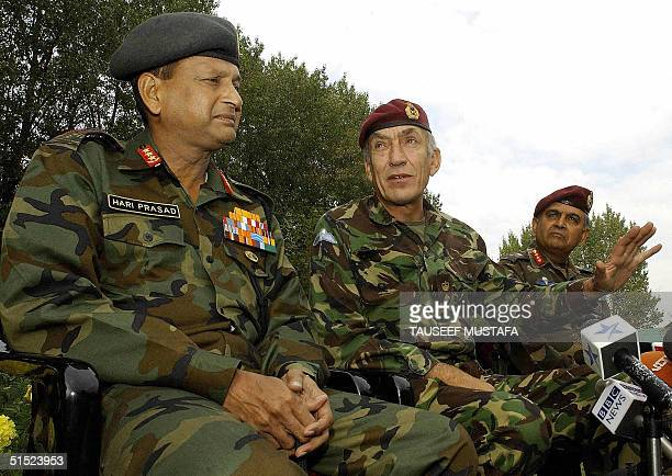 British Chief of the General staff,General Sir Mike Jackson India's Commanding officer -in-chief of the Northern Command Lieutenant General Hari...