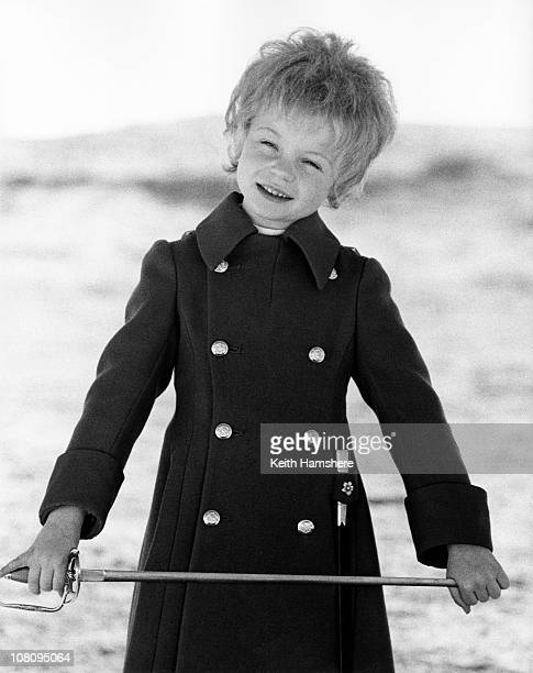 British child actor Steven Warner on the set of the film 'The Little Prince' in Tunisia 1974