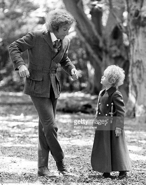 British child actor Steven Warner with American actor Gene Wilder on the set of the film 'The Little Prince' in Berkhamsted Hertfordshire 1974 They...