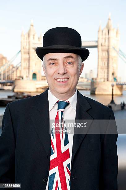 British City Gent Businessman with a Union Jack Tie