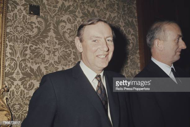 British civil servant Patrick Shovelton key member of the UK negotiating team for entry in to the Common Market pictured at a function to celebrate...