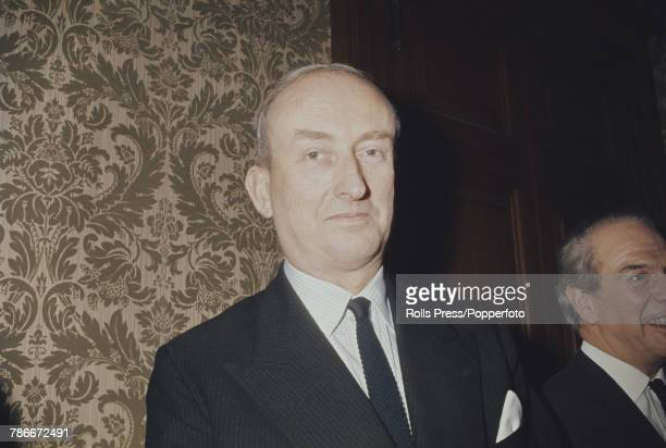 British civil servant Roy Denman key member of the UK negotiating team for entry in to the Common Market pictured at a function to celebrate the...