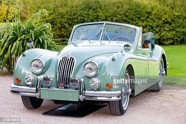 british classic sports car jaguar xk 140 dhc, 1954 - 1957 stock pictures, royalty-free photos & images