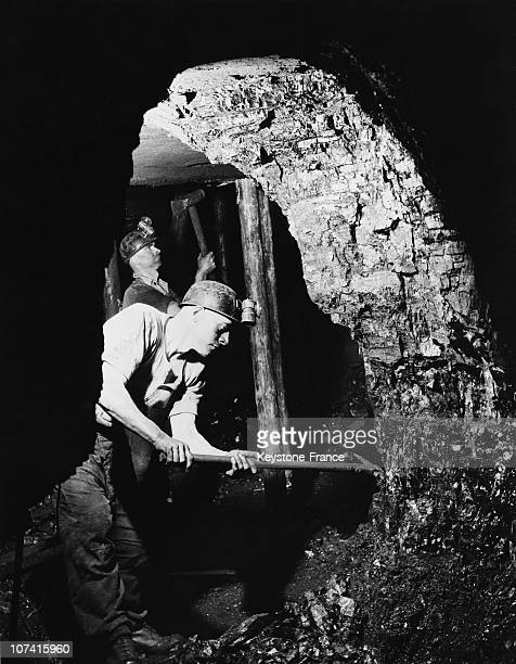 British Coal Miner At Work In England During Thirties