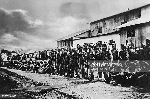 British colonial troops who were taken prisoners by German forces after the Battle of Tanga early November 1914