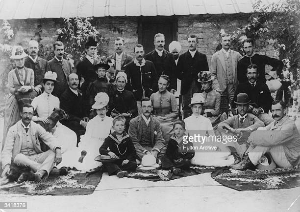 British Colonials with their families in Ranikhet India