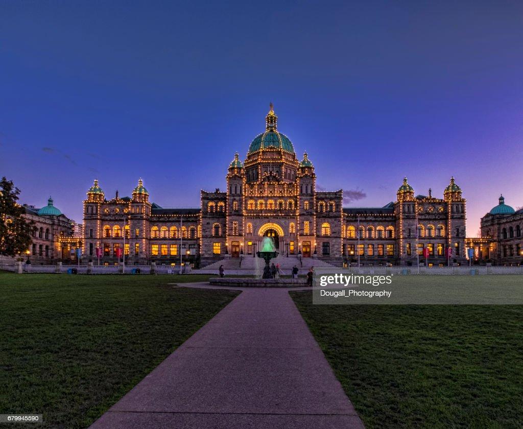 British Columbia Legislature Building in Victoria, Vancouver Island : Stock Photo