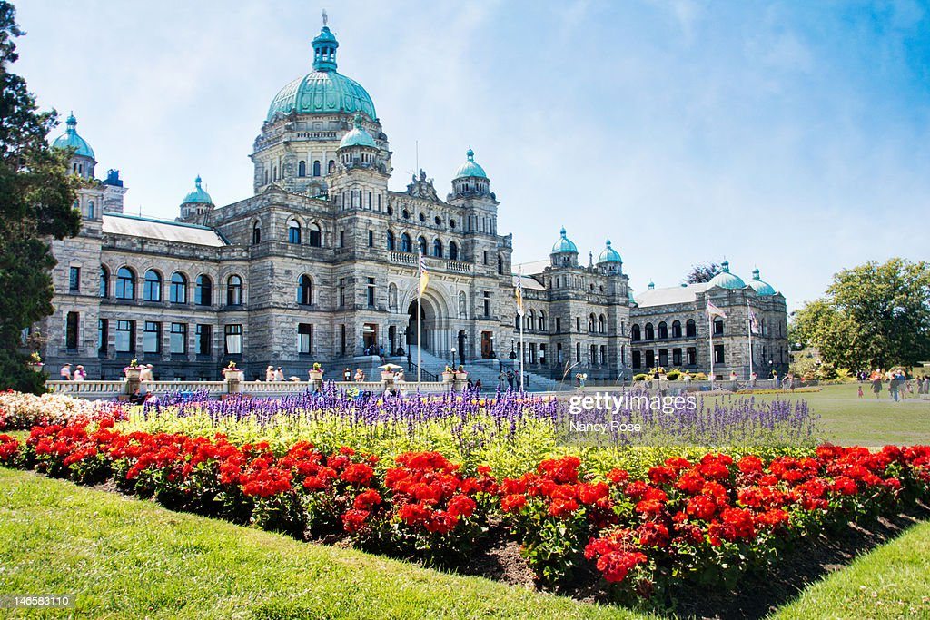 British Columbia Parliament Buildings, Victoria B. : Stock Photo